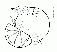 Coloring Pages Orange Fruits Coloring Pages For Kids Printablee