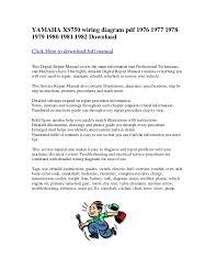 yamaha xs wiring diagram pdf do