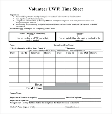 Timesheet Word Volunteer Template Free Printable In Timesheet Word Sample