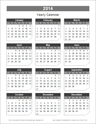 Calendar 2013 Template 2014 Yearly Calendar Template Madinbelgrade