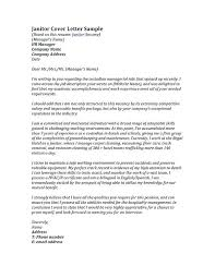 Samples Of Cover Letters For Employment Mesmerizing Sample Cover Letter Janitorial Supervisor Lezincdc