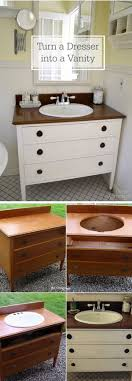 furniture hacks. DIY Bathroom Vanity With Drawers For Storage: Get An Old Table From Your Garage Or Furniture Hacks