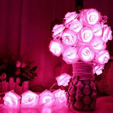 Delightful Romantic 20 LED Lighting Rose Flower String Fairy Lights Home Bedroom  Garden Decor Wedding Party Decoration