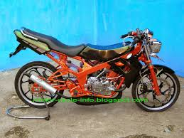 modifikasi motor drag supra x 100cc