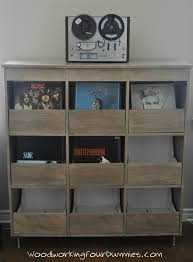 vinyl record cabinet storage more