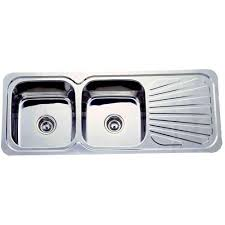 Plumbing Materials Kitchen Sink Double Bowl Single Tray