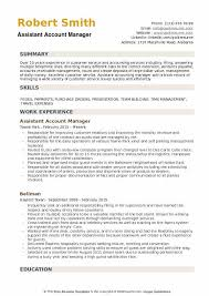 Sample Travel Management Resume Assistant Account Manager Resume Samples Qwikresume