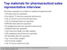 Medical Sales Interview Questions Pharmaceutical Sales Representative Interview Questions And