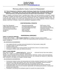 Logistics Manager Resume Template Example Of A Supply Chain Cv 9 ...