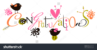 congratulations script card stock vector shutterstock congratulations script card
