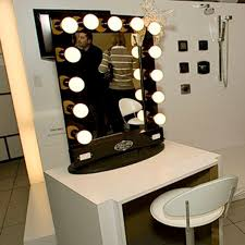 Mirror with Bulbs Around It Designing Home