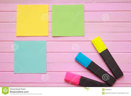 Top View Of Blank Notebook Page On Pastel Colored Background