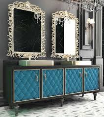 Casa Padrino Luxus Barock Badezimmer Set Schwarz Blau Gold 1