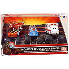 Disney Cars Cars Toon Monster Truck Mater Diecast Car Set [Set #1 ...
