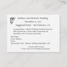 Customize Wedding Hotel Accommodation Insert Card Zazzle Com