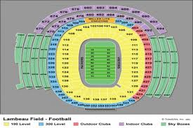 Lambeau Seating Chart Sept 26 Eagles At Packers 1 Night