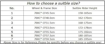 C60 Size Chart Expert Colnago M10 Size Chart 2019