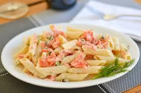 pasta with smoked salmon and cream