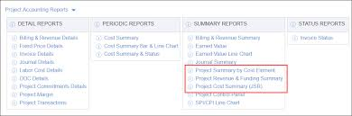 Reconcile Revenue And Project Costs From The Jsr To The