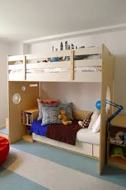 couch design beneath the loft bed in ellis room by casa kids ny bunk bed steps casa kids