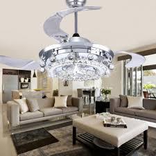 led fan crystal chandelier dining room living room fan ideas for you