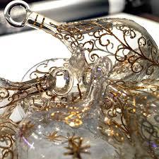 Christbaumkugel Glas Groß Gold Antik Mundgeblasen
