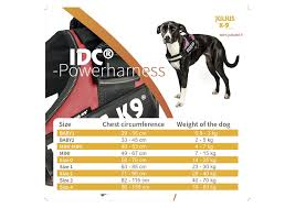 Julius K9 Size Chart Julius K9 Idc Powerharness Purple