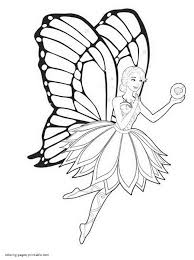 Princess With Butterfly Wings Coloring Pages Free 5 T For Fairy ...