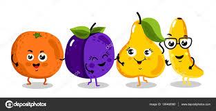 Personnages De Dessins Anim S Dr Le Fruit Isol Image