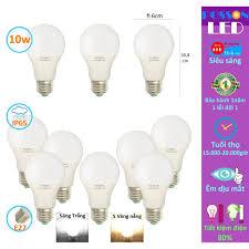 Sỉ 100 Bóng đèn Led 9w 10w bup tròn A60 tiết kiệm điện kín chống nước  Posson SG LB-10x chính hãng 1,385,000đ