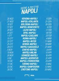 Calendario Napoli Serie A 2017/2018: partite e date