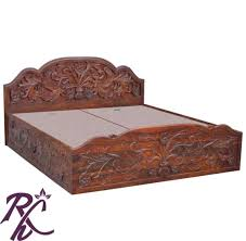 wooden furniture box beds. Buy Wooden Furniture Box Beds Carving Bed Online In India Frame Free