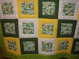 22 best focus fabric quilts images on Pinterest | Easy quilts ... & Quilt, yellow, green & white, with frogs print by strngwoodlndcreature, via  Flickr Adamdwight.com