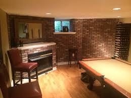 corner brick veneer fireplace