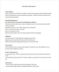 Pre K Teacher Resume Sample Best Of Teacher Resume Examples 24 Free Word PDF Documents Download