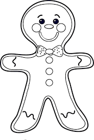 Gingerbread Man Line Drawing At Getdrawingscom Free For Personal