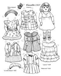 Small Picture Paper Doll Coloring Pages Munchkins and Mayhem