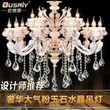 ou saiya quality zinc alloy crystal chandelier crystal candle lamp light continental living room restaurant bowlder