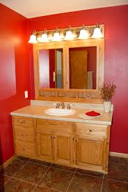 Custom Made Oak Bathroom Vanity And Built In Medicine Cabinet - Oak bathroom vanity cabinets