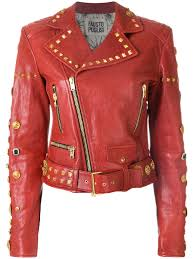 fausto puglisi studded biker jacket dd9005