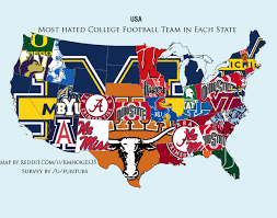 the real hate map no, ohio doesn't totally hate ohio state Ohio Colleges Map everybody hates michigan ohio college map