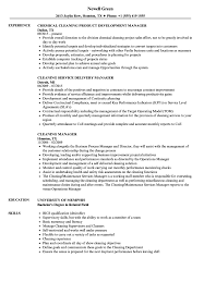 Resume For A Cleaning Job Cleaning Manager Resume Samples Velvet Jobs 99