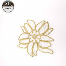 Meti Cloth Designs Meticulous Handcraft Jasmine Rope Embroidery Patch Design Multi Usage Embroidered Flower Patches By Professionalism Buy Embroidery Patch For