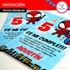Invitaciones De Spiderman Para Editar List Of Synonyms And Antonyms Of The Word Hombre Arana Invitaciones