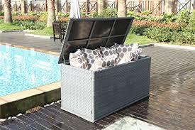 waterproof cushions for outdoor furniture. perfect cushions yakoe 21219 147x67x70 cm waterproof rattan garden storage box foldable  cushion chest unit patio furniture  with cushions for outdoor