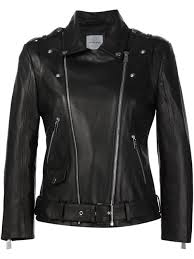 anine bing classic biker jacket black women clothing leather jackets anine bing