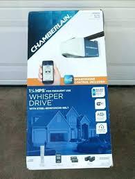 chamberlain belt drive chamberlain whisper drive sectional tilt garage door opener