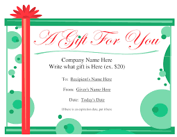 Ms Word Gift Certificate Template Ms Word Gift Certificate Template Complete Guide Example 21