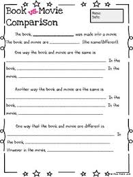 Comparison Essay Template Book Vs Movie Comparison Organizer And Essay Template Ccss Aligned