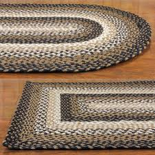 survival target braided rugs wool rectangular country woven cotton area blue rug